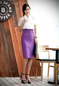 Work outfit.  I love high waisted pencil skirts :)