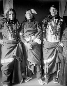 Miles Turner, Amos White Swan & Grabbing Bear ~ 1906  Sicangu (Brulé Sioux) Tribe ~  South Dakota