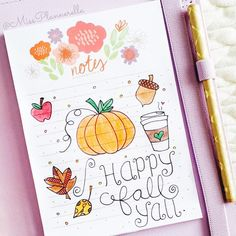 """""""Day 23. Hello Fall Happy Fall Yall! It's still 84° here in South Florida but I'm happily decorating for fall anyways.  #plannerdarlingspotd"""""""