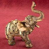 Found it at Wayfair - Elephant with Mirror Design and Clear Stone Figurine