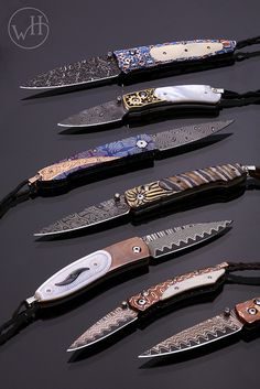 Bailey's Fine Jewelry is glad to carry William Henry. This American-made pocket knife brand is devoted to creating the finest functional men's accessories. Cool Knives, Knives And Tools, Knives And Swords, Pocket Knife Brands, Best Pocket Knife, Pocket Knives, Survival Knife, Urban Survival, Damascus Knife