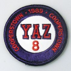 """Carl Yastrzemski Boston Red Sox YAZ #8 Cooperstown 2.75"""" Round Embroidered Patch by Your Sports Memorabilia Store. $3.99"""