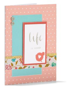 Use the pages from the My Crush® For Her books to create beautiful cards or scrapbook layouts #CTMH