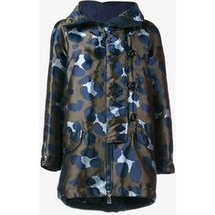 Moncler Camouflage Parka Jacket featuring polyvore, women's fashion, clothing, outerwear, jackets, camouflage jacket, camo print jacket, camo jacket, parka jacket and camouflage hooded jacket
