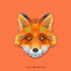 Triangle conception de renard rouge