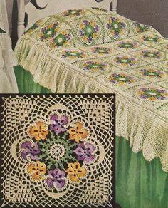 Heart Filet Crochet Bedspread