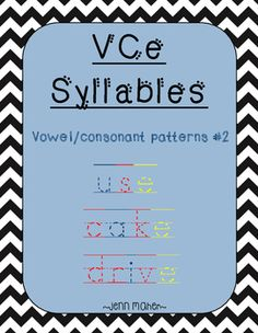 vc cvce 2 syllable card match with worksheet silent e and free word work pinterest. Black Bedroom Furniture Sets. Home Design Ideas