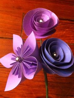 Paper Flower Wedding Boutonniere  Made from your by QtsyThings, $10.00  www.qtsythings.etsy.com