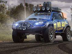 custom off-road Subaru rendering