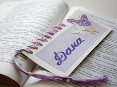 OOAK personalized Russian paper bookmark by nesaquarelle on Etsy, $6.00