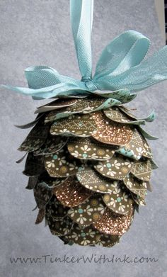 Tinker With Ink & Paper: Ornament #9: Another Adorable Pinecone  Stampin' Up!