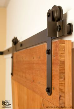 The Aero Sliding Barn Door Hardware Kit is a modern barn door hardware system ideal for interior applications. Buy this USA made sliding door hardware for a minimalist look. Indoor Barn Doors, Hanging Barn Doors, Interior Sliding Barn Doors, Sliding Barn Door Hardware, Door Hinges, Rustic Hardware, Sliding Cupboard, Door Latches, Cupboard Doors