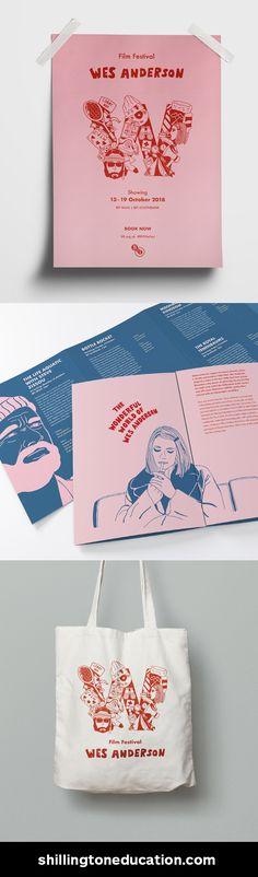 Film Brochure by Kraitip Sivakriskul, Shillington Graduate. #MadeAtShillington #ShillingtonEducation #GraphicDesign #Portfolio #DesignSchool #Branding #Poster #Brochure #Illustration Layout Design, Design De Configuration, Print Design, Film Poster Design, Poster Art, Poster Ideas, Typography Design, Branding Design, Design Brochure