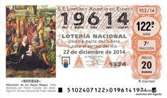 Décimo de Lotería de Navidad del año 2014 - «NAVIDAD» - ADORACIÓN DE LOS REYES MAGOS
