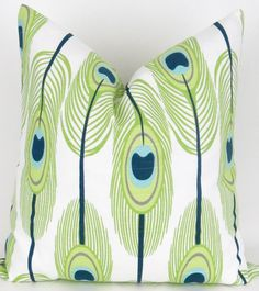 lime green aqua navy yellow green pillows and rugs - Google Search