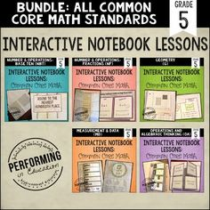 This includes student reproducibles to use in Interactive Math Notebooks for 5th Grade ALL Common Core Math Standards. It\'s all in here ready for you to teach and your students to create! This set also included rubric & instructions for using Interactive Math Notebooks in your classroom.This Bundle Includes the Following Products: Geometry StandardsFocus on FractionsMeasurement and DataNumbers in Base 10Operations and Algebraic ThinkingWhat\'s Included:Grading RubricTeaching Tips for each ...