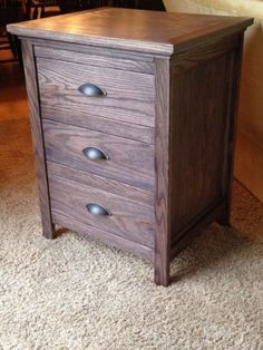 Night Stand With Locking Secret Hidden Drawer