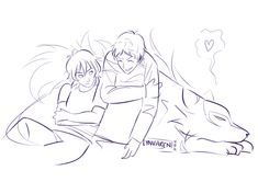 Keith and Lance learn to share the cosmic wolfie