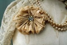 Vintage Muslin and Crystal