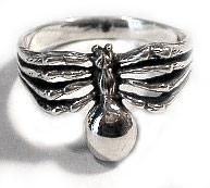 Gothic Sterling Silver Large SPIDER Biker Ring