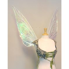 Tinkerbell Large Iridescent Fairy Wings (360 CAD) ❤ liked on Polyvore featuring costumes and wings