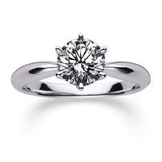 ハートのようなふくらみを感じさせる柔らかなラインのソリテールリング。 *エンゲージリング 婚約指輪・ミキモト一覧*