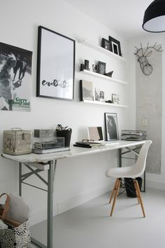 Home office inspiration. Workspace Inspiration, Room Inspiration, Interior Inspiration, Design Inspiration, Design Ideas, Design Styles, Inspiration Boards, Inspiration Quotes, Design Art