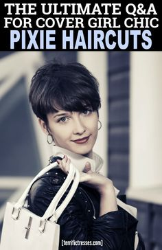 """Would an edgy pixie cut with thick hair be a blessing or a curse? Well, all that natural texture means less styling time. Still the same questions come up as with any pixie. Super short or a bit longer? Bangs? Can it work messy or curly? What about an undercut? Oh yeah and round face - good or not? Chic pixies are not a question of thick or thin hair. It is more about answers to six common """"Should I get a pixie cut"""" questions  - videos included. #PixieCutForThickHair"""