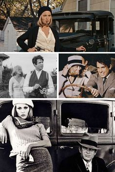 Bonnie and Clyde - Scenes from Arthur Penn's take on the infamous tale of the depression era gangsters #GangsterMovie #GangsterFlick