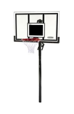Lifetime 71525 Height Adjustable In Ground Basketball System 54 Inch Shatterproof Backboard