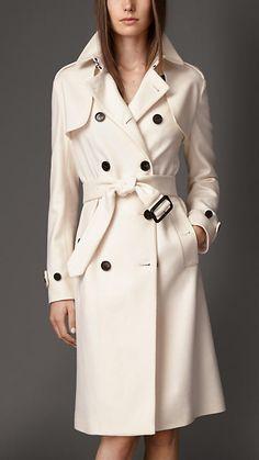 Trench-coat long en double cachemire | Burberry