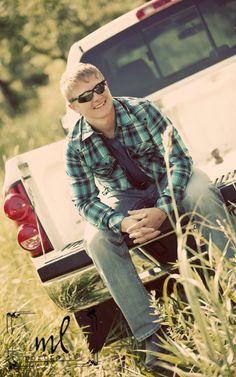 www.mlportraits.com - Senior Photography | Senior Photo Session | Boy | Truck | Baby | Shades | Sunglasses | Plaid | Tall Grass | Seniors | 2014