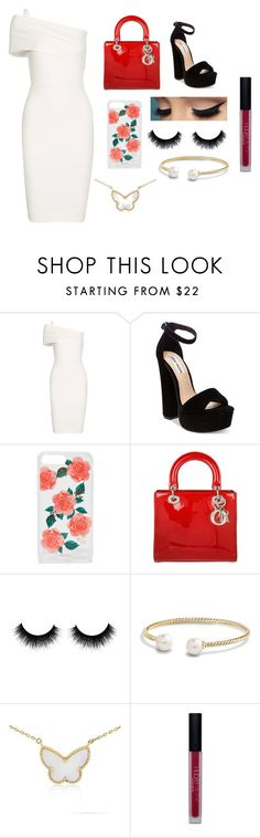 """""""Untitled #52"""" by shamamii-xx ❤ liked on Polyvore featuring Michelle Mason, Steve Madden, Sonix, Christian Dior, David Yurman, Van Cleef & Arpels and Huda Beauty"""