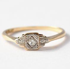 Antique Engagement Ring Art Deco Diamond by BlueRidgeNotions