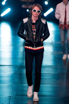 Hedi Slimane presented his Spring/Summer 2016 collection for Saint Laurent during Paris Fashion Week.