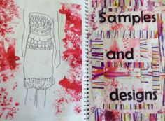 A level textiles sketchbook