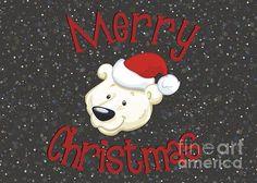 #Christmas #PolarBear #GreetingCard #JHughesDesigns
