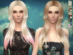 The Sims Resource: Hair 03 - Rose hair by Sim2fanbg • Sims 4 Downloads