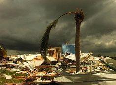 Hurricane Jeanne 2004, category 4 storm.  East coast destruction.