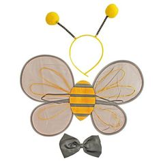 These bee costume accessories will make your little bee lover the center of attention at their next dress up party. Suitable for ages 2 - Set Includes: Wings Bee Ears Bow Tie Next Dresses, Fancy Dress Outfits, Phantom Mask, Bee Wings, Opera Mask, Childrens Fancy Dress, Hero Costumes, Children Images, Halloween Masks