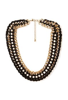 Eclectic Woven Chain Necklace | FOREVER21 - 1000107030