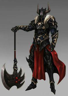 Antipaladin Warrior - Pathfinder PFRPG DND D&D d20 fantasy