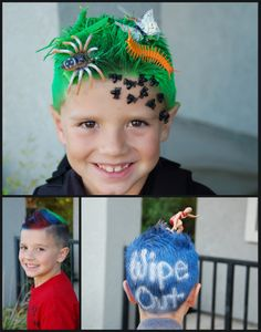 Clever 'Crazy Hair Day' ideas for school.