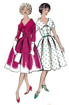 Butterick 8867 1950s Vintage Womens Sewing by allthepreciousthings,