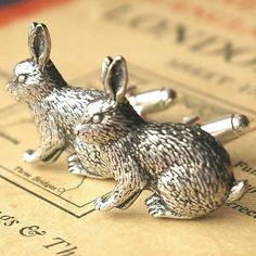 vintage rabbit cufflinks