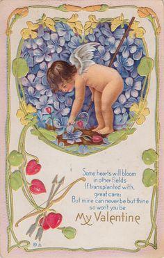 Wings of Whimsy: My Valentine Cherub - free for personal use #vintage #printable #ephemera #freebie