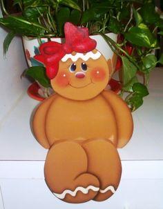 Handpainted Gingerbread Shelf Sitter