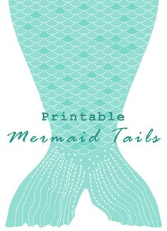 Mermaid Tail Template For Invitation