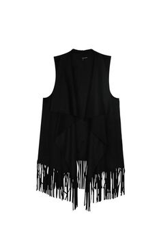 Black Suede Vest with Fringe #newin #suedevest #black #TALLYWEIJL