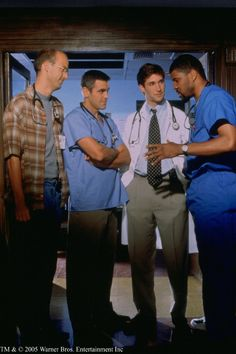 Still of George Clooney, Anthony Edwards, Noah Wyle and Eriq La Salle in ER